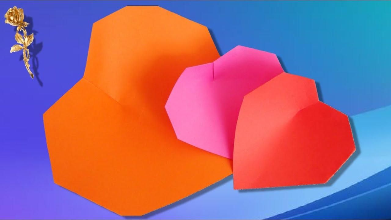 origami facile c ur youtube. Black Bedroom Furniture Sets. Home Design Ideas