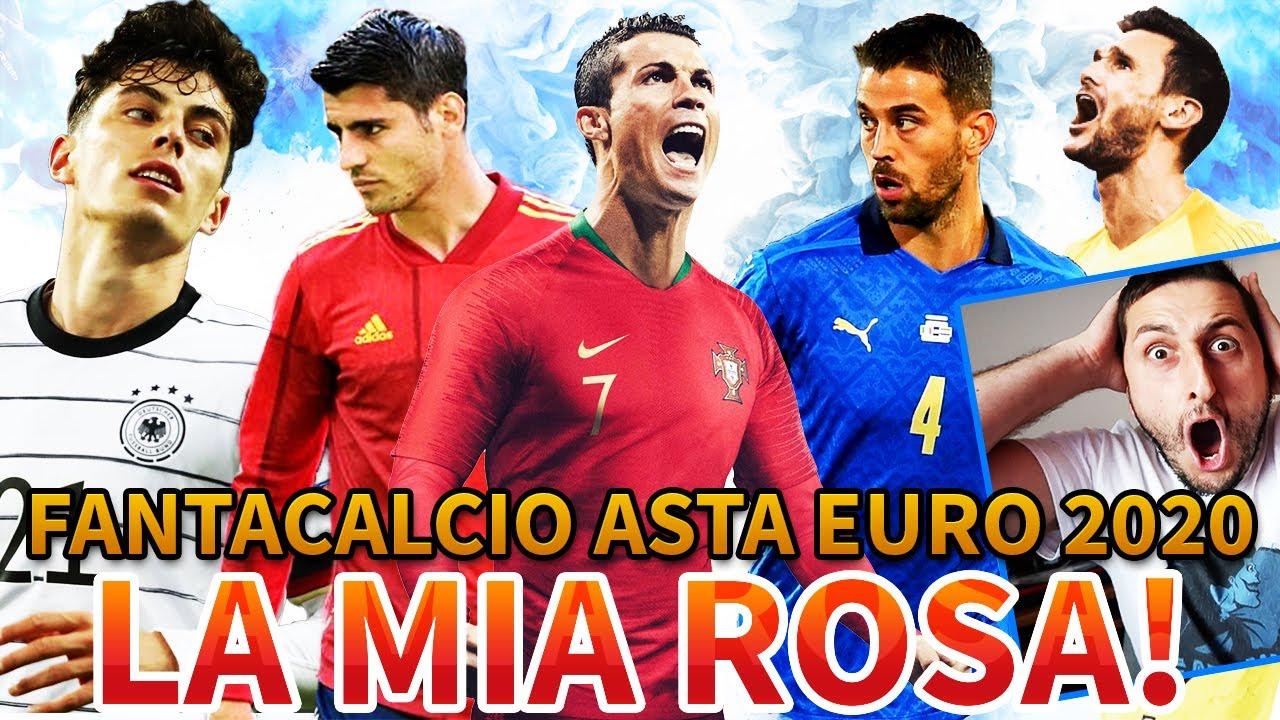 😱 [CHE SQUADRONEEE‼️] La MIA SUPER ROSA al FANTACALCIO ad ASTA tra AMICI di EURO 2020‼️🇮🇹🏆🔥