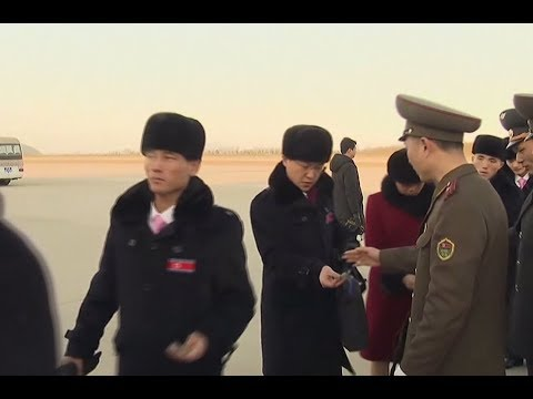 RAW: North Korean delegation leaves for the Winter Olympics