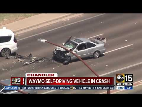 Waymo vehicle involved in Chandler crash not at fault