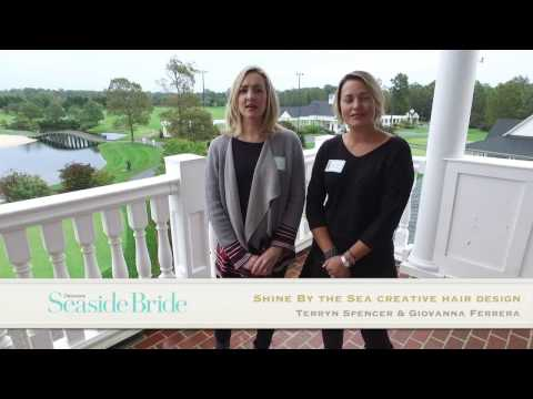 Terryn Spencer and Giovanna Ferrera of Shine By the Sea Creative Hair Design share wedding tips.