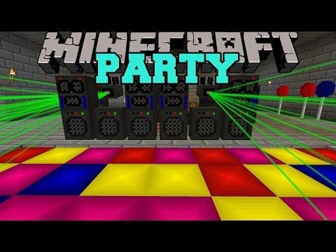 Minecraft: PARTY (SMOKE MACHINES, LASER LIGHTS, MUSIC, & MORE!) Mod Showcase