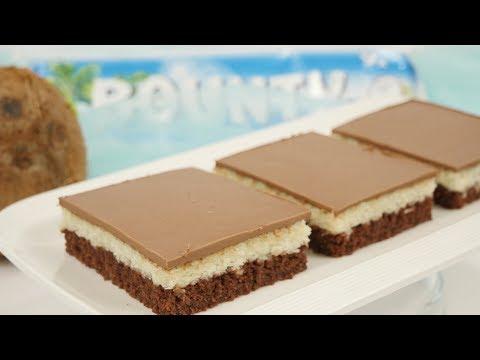 Bounty Kuchen vom Blech / Coconut Cream Bars / Schoko-Kokos-Schnitten
