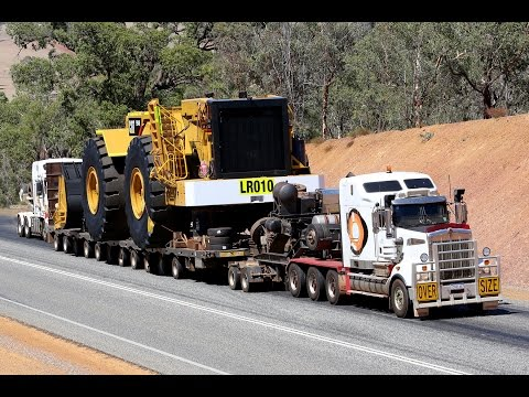 Heavy Haulage - Caterpillar 994H - 190 tonne load being moved