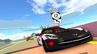 Roblox ULTIMATE DRIVING 03 - PATROLLING THE STREETS IN THE POLICE CORVETTE w/ chrisatm