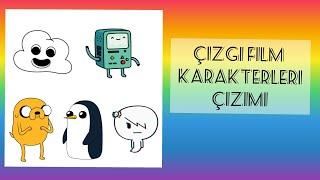 Kolay Çizgi film Karakterleri Çizimi/KARAKALEM