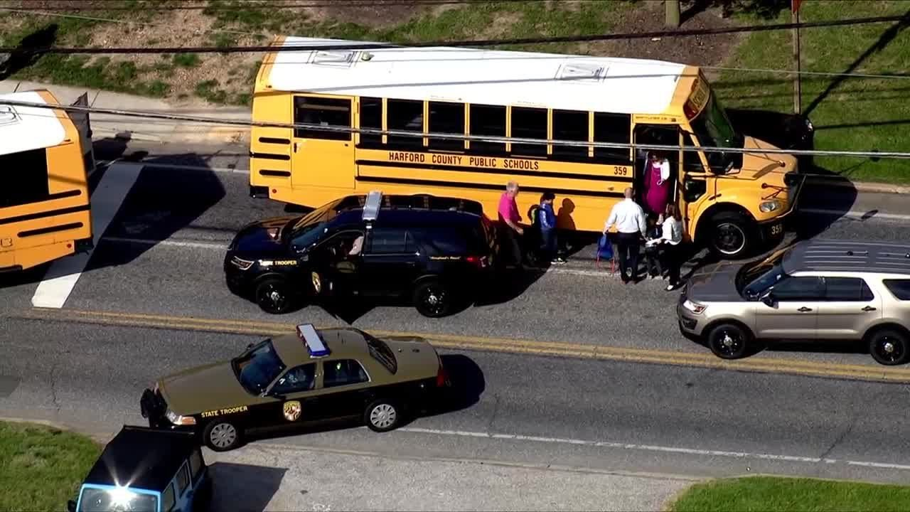 Children evacuated after school bus accident
