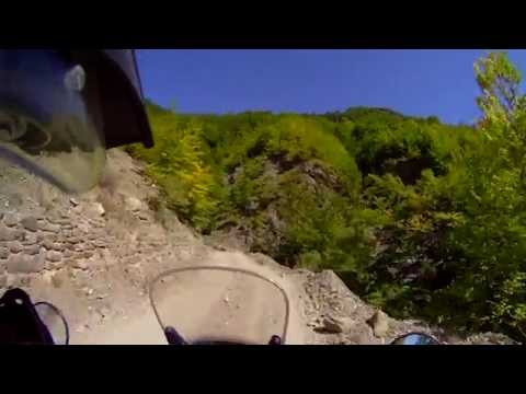 Albania: SH20 - motorcycling unpaved mountain road to border crossing