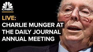 LIVE: Charlie Munger Speaks at Daily Journal Annual Meeting -- Feb. 14, 2019