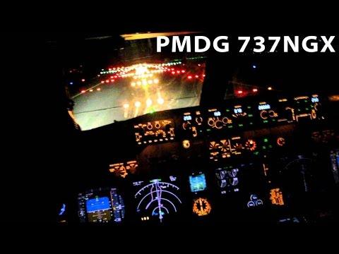 FSX VATSIM ATC | PMDG B737NGX | Night Landing at Bratislava Airport LZIB