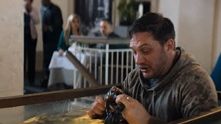Eddie Ate Alive Lobster While Sitting In Water Tank In A Restaurant | VENOM Movie Clip FHD