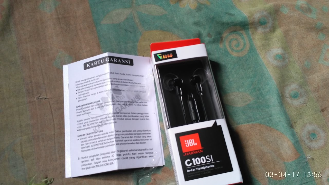 Unboxing Review Jbl C100si Indonesia Youtube In Ear Headphone T210 Hitam