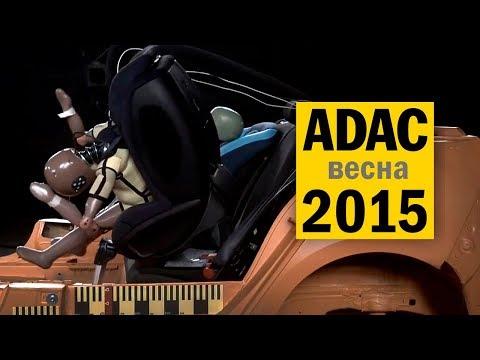 Краш-тесты детских автокресел ADAC 2015#1 на русском