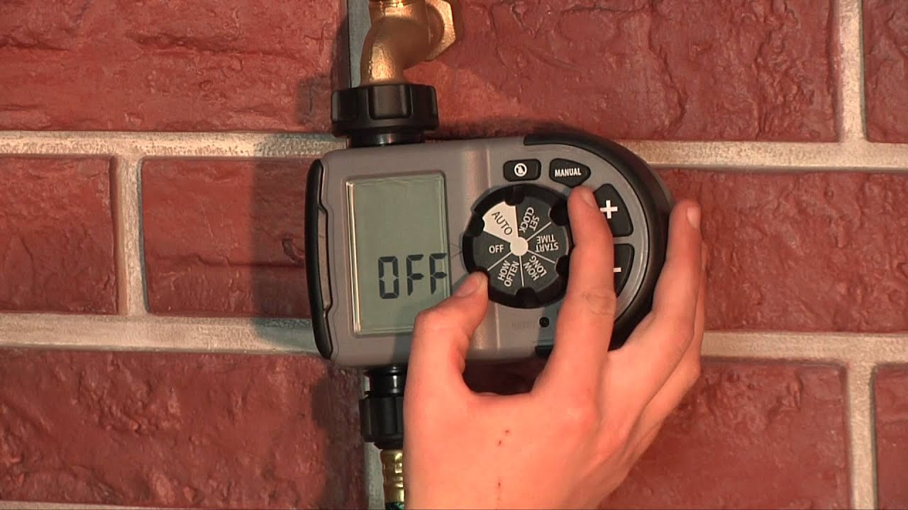 How To Program an Orbit One Outlet Hose Faucet Timer (56619) - YouTube