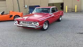 1962 PLYMOUTH FURY SPORT - RED WITH RED/BLACK INTERIOR - 1/2