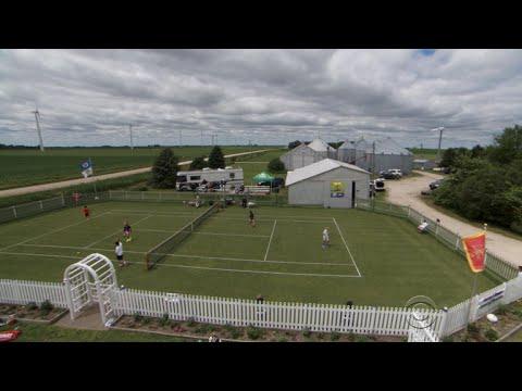 How an Iowa farmer made a replica of Wimbledon's center court