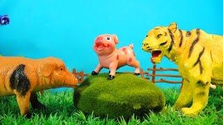 МАЛЕНЬКИЙ ПОРОСЕНОК и БОЛЬШОЙ ТИГР. Мультфильмы про животных для детей