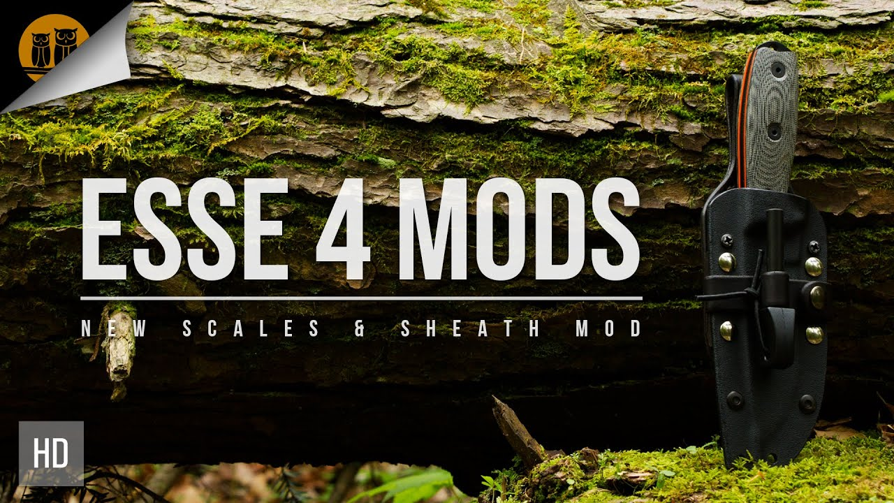 ESEE 4 Knife & Sheath Mods | Survival Knife Upgrades