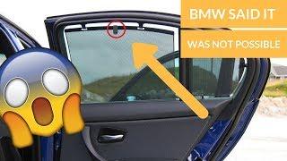 RETROFITTING SUNSHADES IN ANY BMW!! (E90,E91,E92,E93)