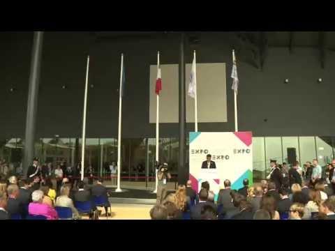 Flag raising ceremony Expo Milan 2015