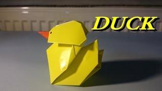 Kağıttan Ördek Yapımı / Origami Duck Easy