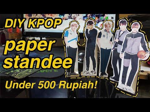 DIY Paper Standee Kpop Low Budget! Under 500 Rupiah   virakkuma