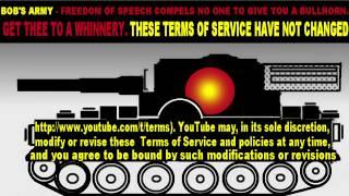 Bob's Army Vs Terms of Service