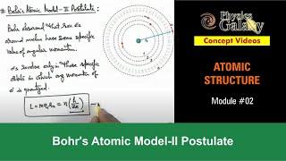 2. Physics | Atomic Structure | Bohr's Atomic Model-II Postulate | by Ashish Arora