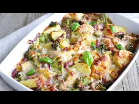gesunder kartoffel brokkoli auflauf mit wenig kalorien youtube. Black Bedroom Furniture Sets. Home Design Ideas