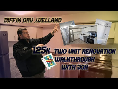 125K Two Unit Reno Walkthrough- Diffin Drv, Welland