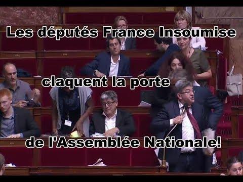 Mélenchon et les députés FI claquent la porte de l'Assemblée Nationale...