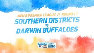 Southern Districts vs Darwin Buffaloes: Round 13 - Men