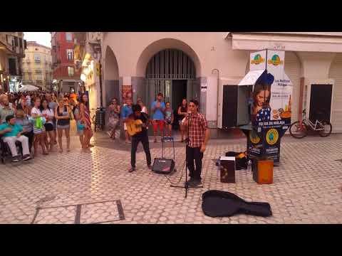 Malaga Spain  street music 1192018