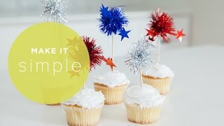 4th Of July Cupcakes - Make It Simple