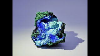 Azurite with Chrysocolla and Malachite from Liufengshan Mine