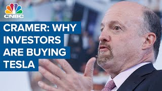 Jim Cramer: Investors are buying Tesla because of its battery technology