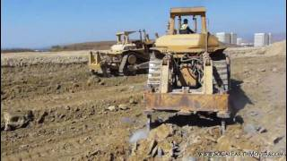 2 CAT D10 dozers working side by side (Part 2)