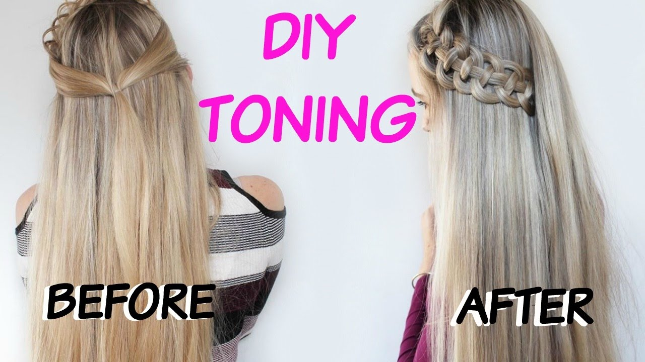 How To Diy Tone Brassiness On Blonde And Highlight Hair Purple