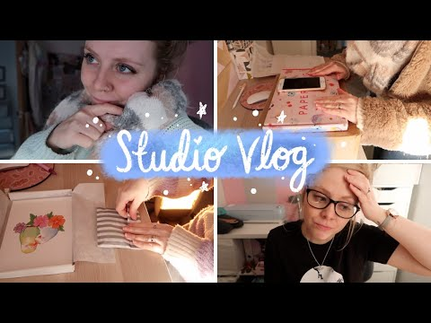 STUDIO VLOG | The Boiler Broke, Life Admin & Challenges (But Also Some Happy Mail!)
