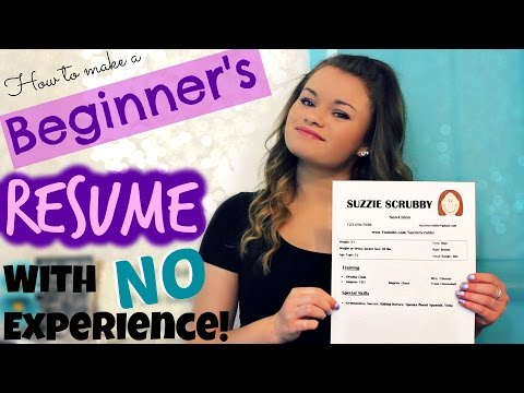 How to Make a Beginner's Acting Resume w/ NO Experience!