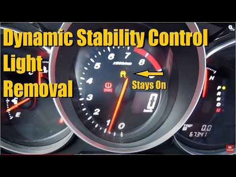 How To Reset The DSC / Dynamic Stability Control Light (Mazda RX8, 3) | AnthonyJ350