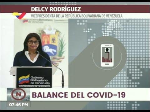 Reporte Coronavirus Venezuela, 23/07/2020: 449 casos y 5 fallecidos, informó Delcy Rodríguez