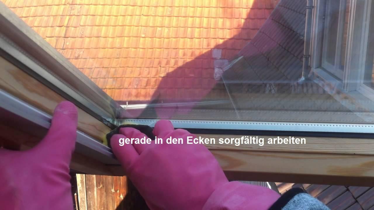 Schimmel am Dachfenster entfernen - YouTube