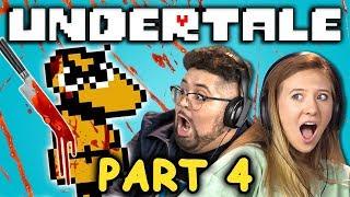 DON'T HURT THE KID!   UNDERTALE - Part 4 (React: Let's Plays)