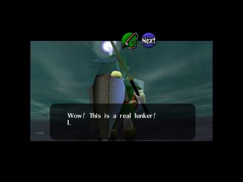 Catching The Ultimate Big Large Fish Of The Fishing Pond - Zelda: Ocarina Of Time