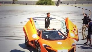 Cristiano Ronaldo Showing off Driving skills with Jenson Button McLaren F1
