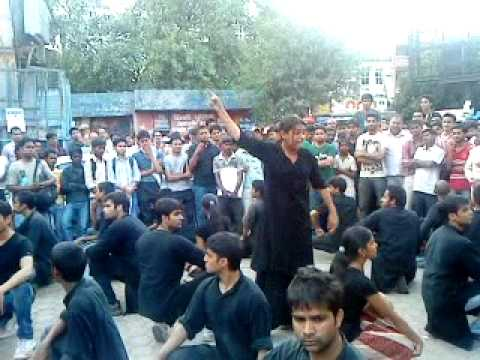 Anna Hazare's Andolan Mukherjee Nagar(Factory of IAS), Asmita theater Group, Dir Arvind Gaur