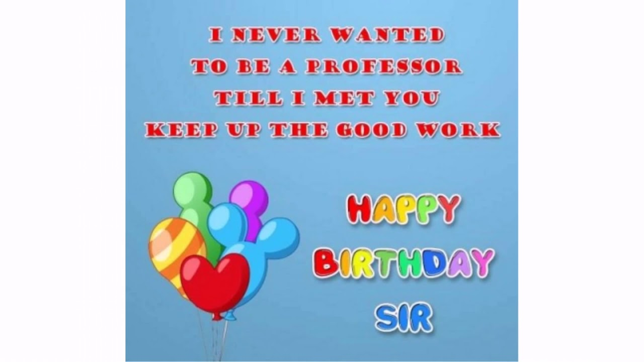 birthday wishes for professor wishesgreeting