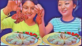 REVIEW | SPICY SMOKED GRILLED CHICKEN | NO HAND MOMO CHALLENGE | NEPALI FOOD 2019