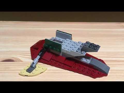 Lego Star Wars Mini Slave 1 Moc Instructions Youtube